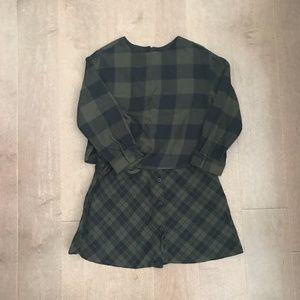 Zara Girls Flannel Dress